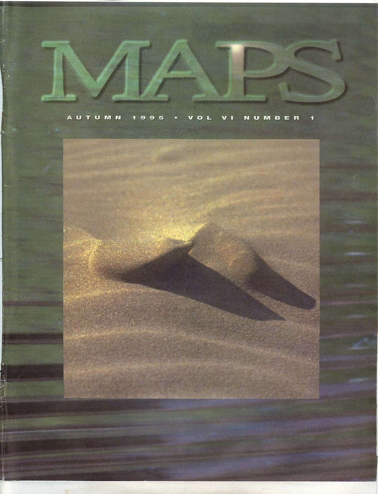 MAPS Bulletin Autumn 1995: Vol. 06, No. 1