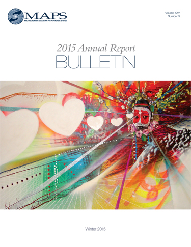 MAPS Bulletin Winter 2015: Vol. 25 No. 3 Annual Report